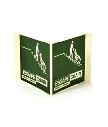 Doppelseitiges Piktogramm (Fahnenschild) Escape-Chair®