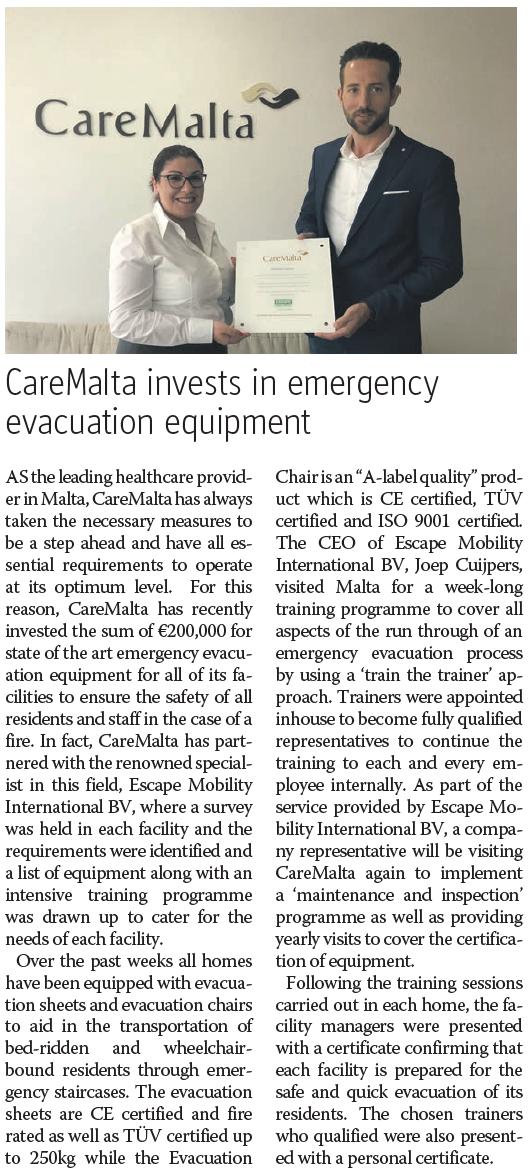 CareMalta escape mobility company